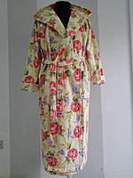 Длинный женский халат из велюра с капюшоном  Vevien  Турция   pr-hj188