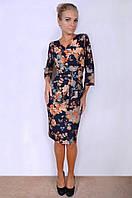 Платье женское с нежным цветочным рисунком