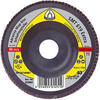 Круг лепестковый тарельчатый Klingspor SMT 619 p80 125*22,23мм