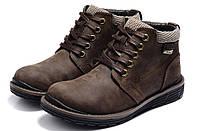 Кожаные теплые мужские ботинки
