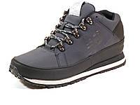 Кросcовки зимние серые New Balance мужские нубук мех шнурок, фото 1