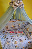 """Постельное бельё для детей ТМ «ASIK» ( 8 ед.) №86 """"мишка с мёдом голубого цвета"""""""