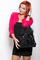 Сумка женская шелковая мешочком черная
