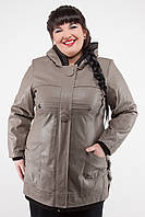 Женская куртка кожзам с капюшоном