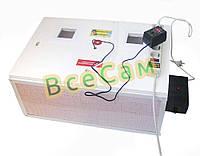 Инкубатор автоматический «Курочка Ряба» ИБ-100 вместимостью 100 яиц с двойным пластиковым корпусом