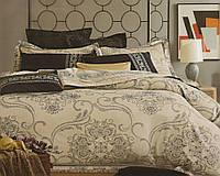 Красивое жаккардовое постельное белье  PRESTIJ с красивым кантом