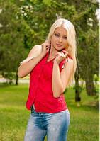 Кофточка-блуза без рукав  женская Крэш