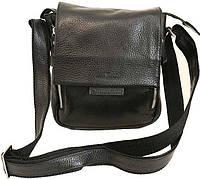 Небольшая сумка кожаная на плече Vip Collection 1420A flat черная