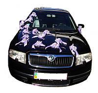 """Украшение на машину  """" Фиолетовая нежность"""" бутоньерки"""