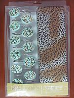 Шторки в ванную комнату 180х180, Arya Leopard
