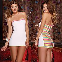 Платье-футляр с полосами на спине, светится в ультрафиолете