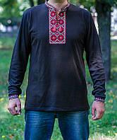 Вышиванка футболка мужская длинный рукав 2528 р-с-п