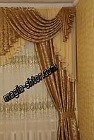 Ламбрекен из портьерной ткани на 1,5 метра