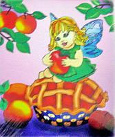 Картина раскраска  Яблочная фея  (7108)