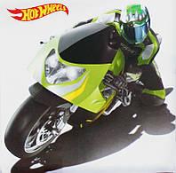 Картина раскраска Hot Wheels салатовый мотоцикл (HW14217K) 25 х 25 см