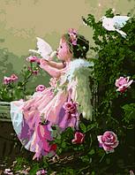 Картина по номерам Ангелочек с голубями худ. Грошев, Слава (VP033) 40 х 50 см