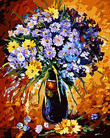 Картина по номерам Цветочный фейерверк худ. Афремов, Леонид (VP059) 40 х 50 см