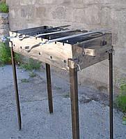 Качественные стальные мангалы для дома 550х350х135 мм
