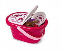 Корзина Hello Kitty для пикника. Набор игрушечной посуды