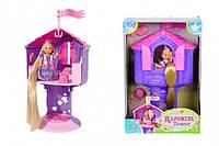 Кукольный набор Эви Рапунцель в башне с длинными волосами, высота башни 32 см
