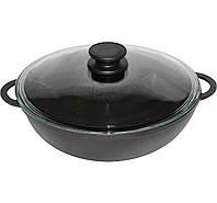 Сковорода чугунная  WOK 26см 3 литра