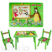 Комплект мебели Bambi: детский столик и два стульчика M 0295 «Маша и Мишка»