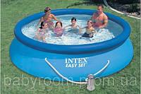 Надувной бассейн  с насосом Intex, 28132 (56422) (366*76 см)