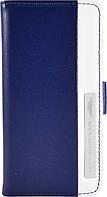 Чехол-книжка Aston Martin iPhone 5C stripe metal logo blue/white (SMBKIPH5CC062)
