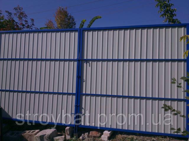 Ворота из профнастила видео как делать ворот електричски