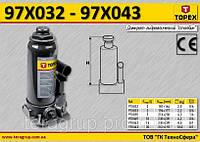 Домкрат гидравлический бутылочный 15т, 230-460мм,  TOPEX  97X042