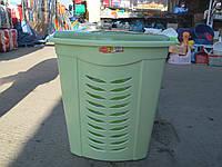 Корзина для белья угловая зеленая, производитель Турция