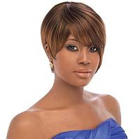 Красивый парик, классическая прическа, цвет - рыже-коричневый, женский парик короткие волосы
