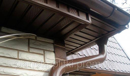 Панель Софит с перфорацией. коричневый