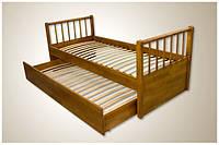 Кровать Трансформер 2 в 1 из натурального дерева (двухъярусная кровать)