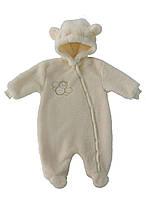 Махровый комбинезон (человечек) для новорожденных 68 см