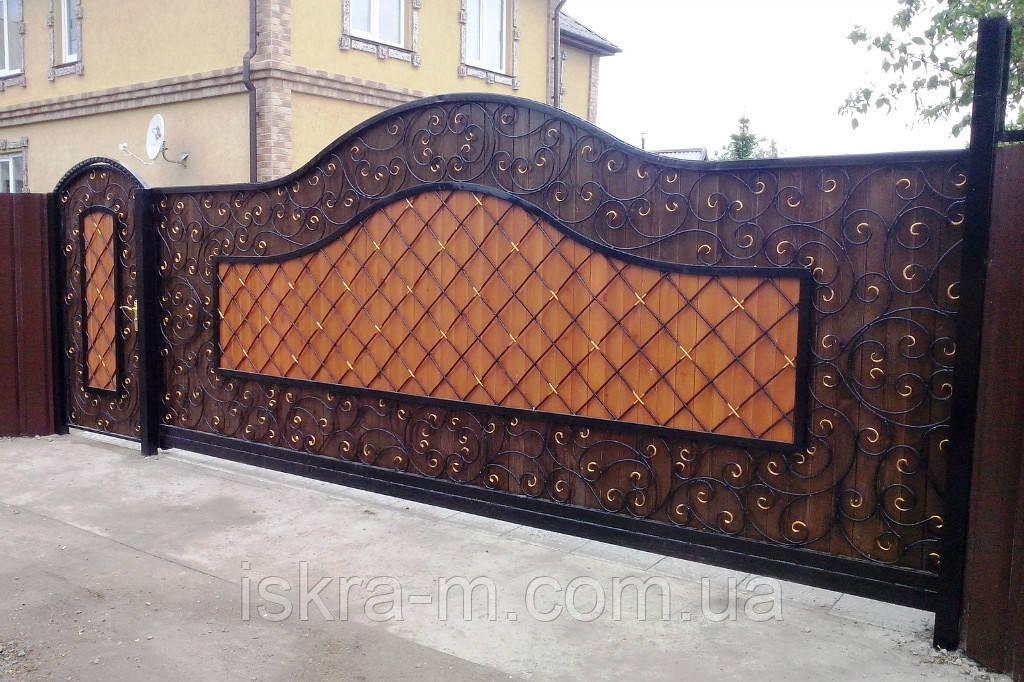 Цена ворота калитки киев производство автоматических ворот в мос