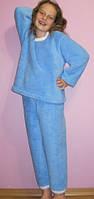 Махровая детская пижама однотонная
