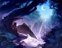"""Вафельные картинки """"Ночь"""" (код 01262)"""