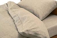 Льняное постельное белье  (оршанский лен) Односпальный Серый Без декора