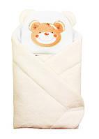 """Конверт - одеяло для новорожденного с подушкой coral fleece( кремовый ) """"Duetbaby"""""""