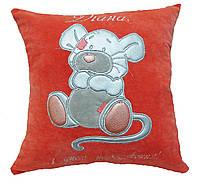 Подушка детская с вышивкой