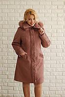 Женское плащевое пальто - Зима