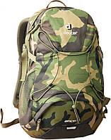 Молодежный, городской рюкзак 22 л. в спортивном стиле DEUTER SPIDER CAMOUFLAGE, 48013 2090 камуфляж