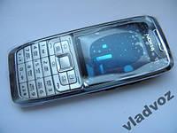 Корпус для Nokia E51 серебро с клавиатурой AAA