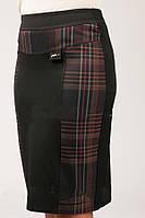 Женская юбка большого размера Клетка Дак