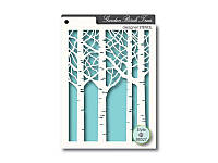 Трафарет Memory Box, Designer Stencil — Birch Trees, 16,8x12,1 см