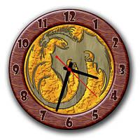 """Часы настенные круглые """"Дракон"""" оригинальный подарок 30х30 см"""