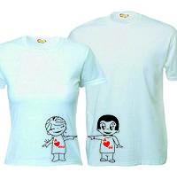 Парные футболки Я люблю его_ее