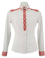 Рубашка вышиванка классического покроя женская офисный стиль. Высокое качество.
