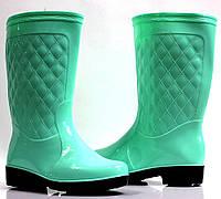 Женские резиновые сапоги ментолового цвета. Очень стильные! Теперь дождь не помеха!, фото 1